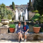 Bobby and I at Villa D'Este