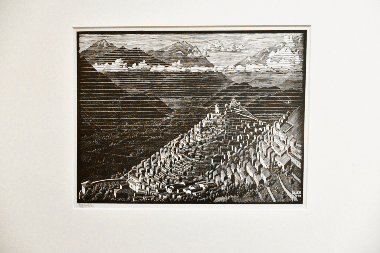 ne of his woodcuts of Calabria, Italy
