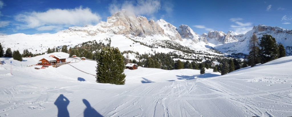 One of the first runs of the day