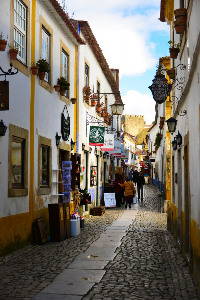 The city of Obidos in the morning sun