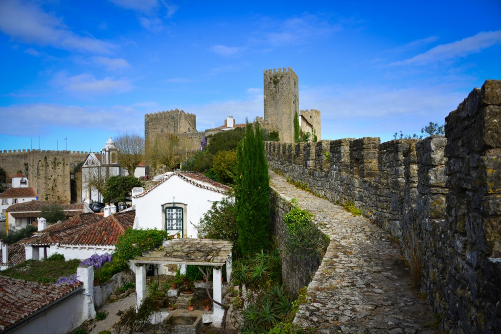View of the Obidos Castle from the walls