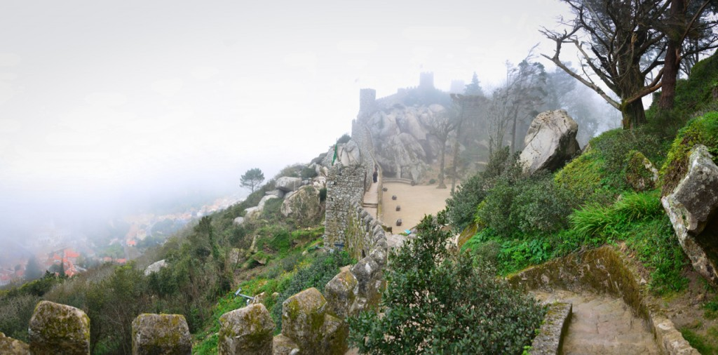 View of the castle walls