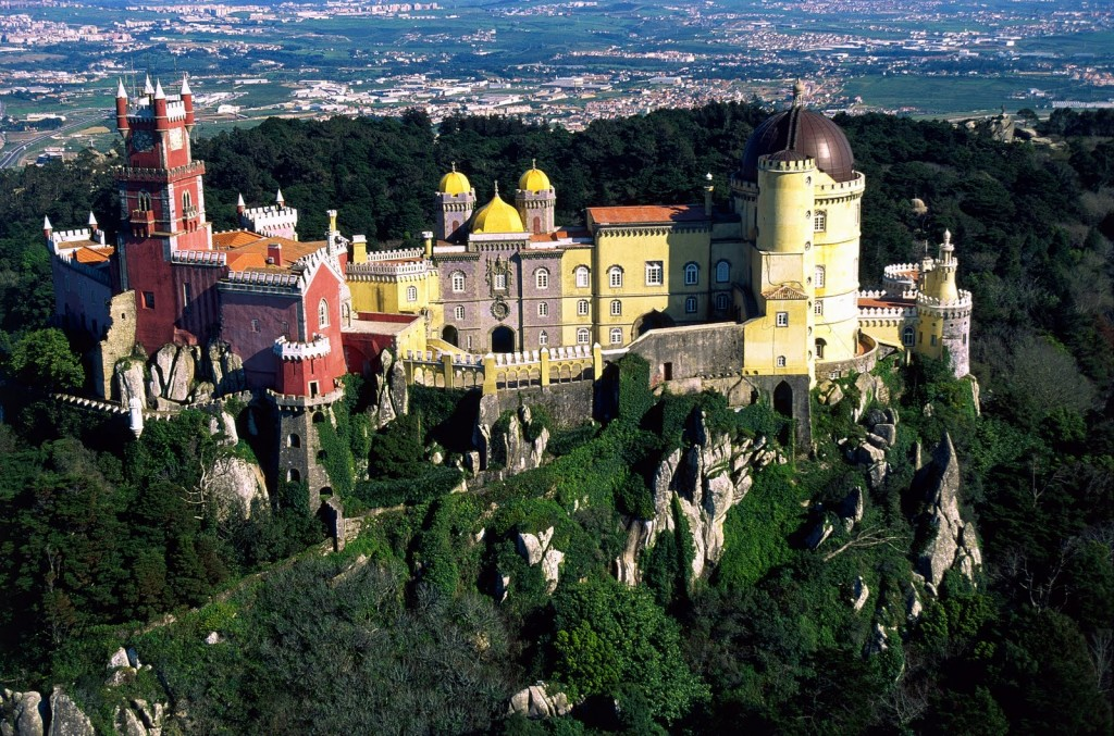 The Pena National Palace on a sunny day