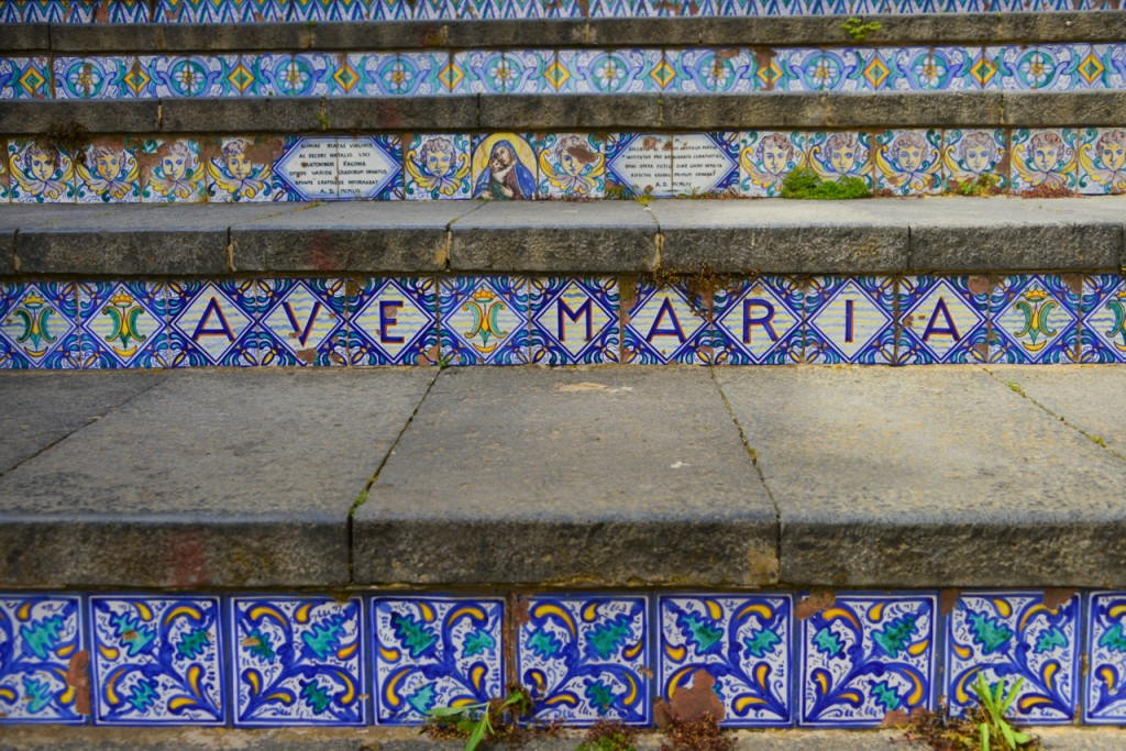 Closeup of the stairs of Caltagirone