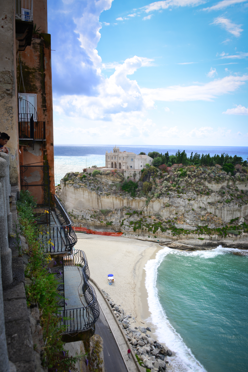 View of Tropea's Castle (the original was knocked down due to damage)