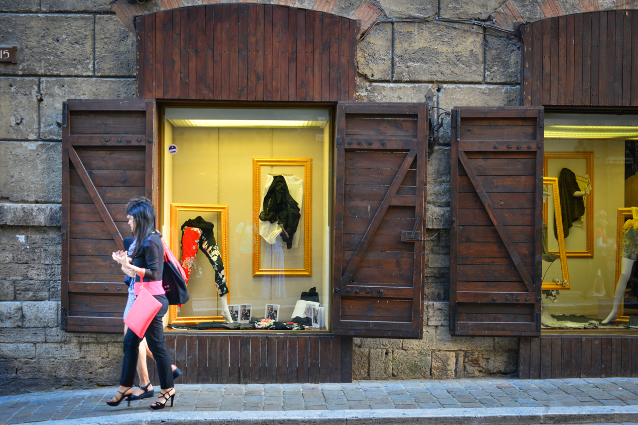 Narni's chic shop fronts