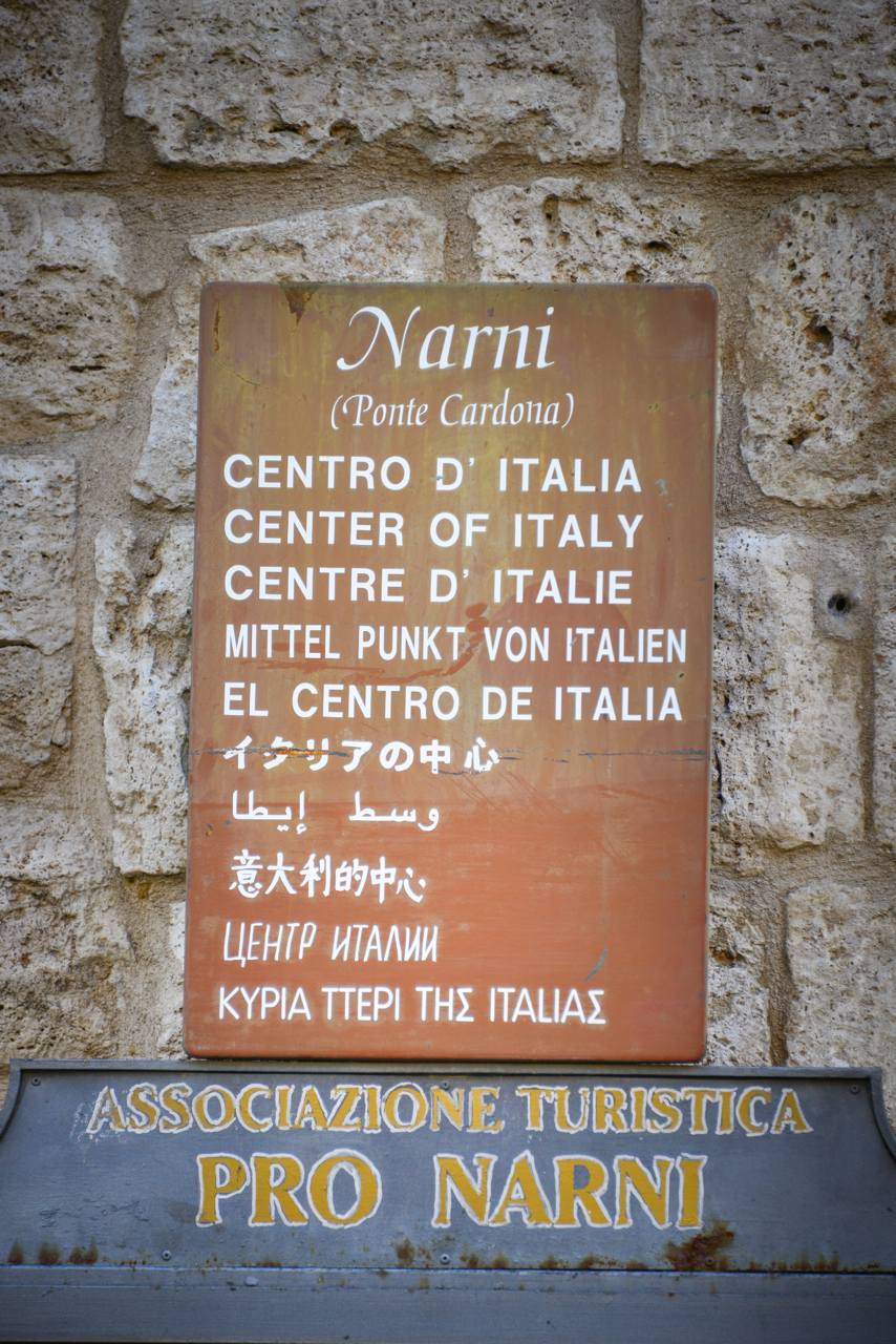 Narni - the center of the earth