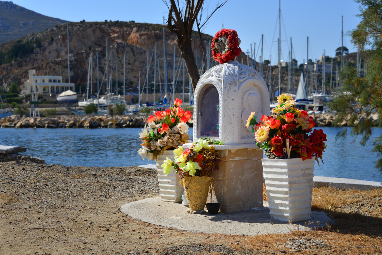 Outdoor memorial in Lakki