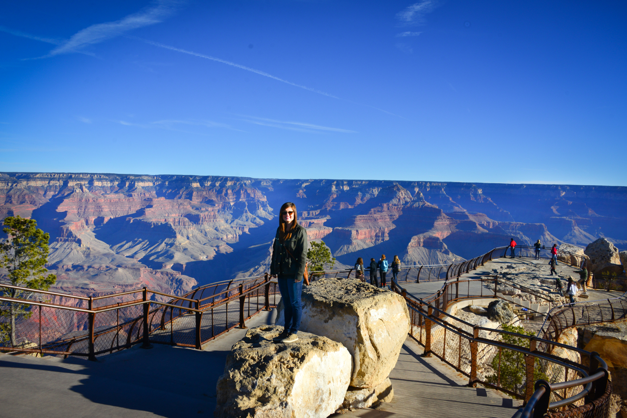 On top of the world at Mather Point