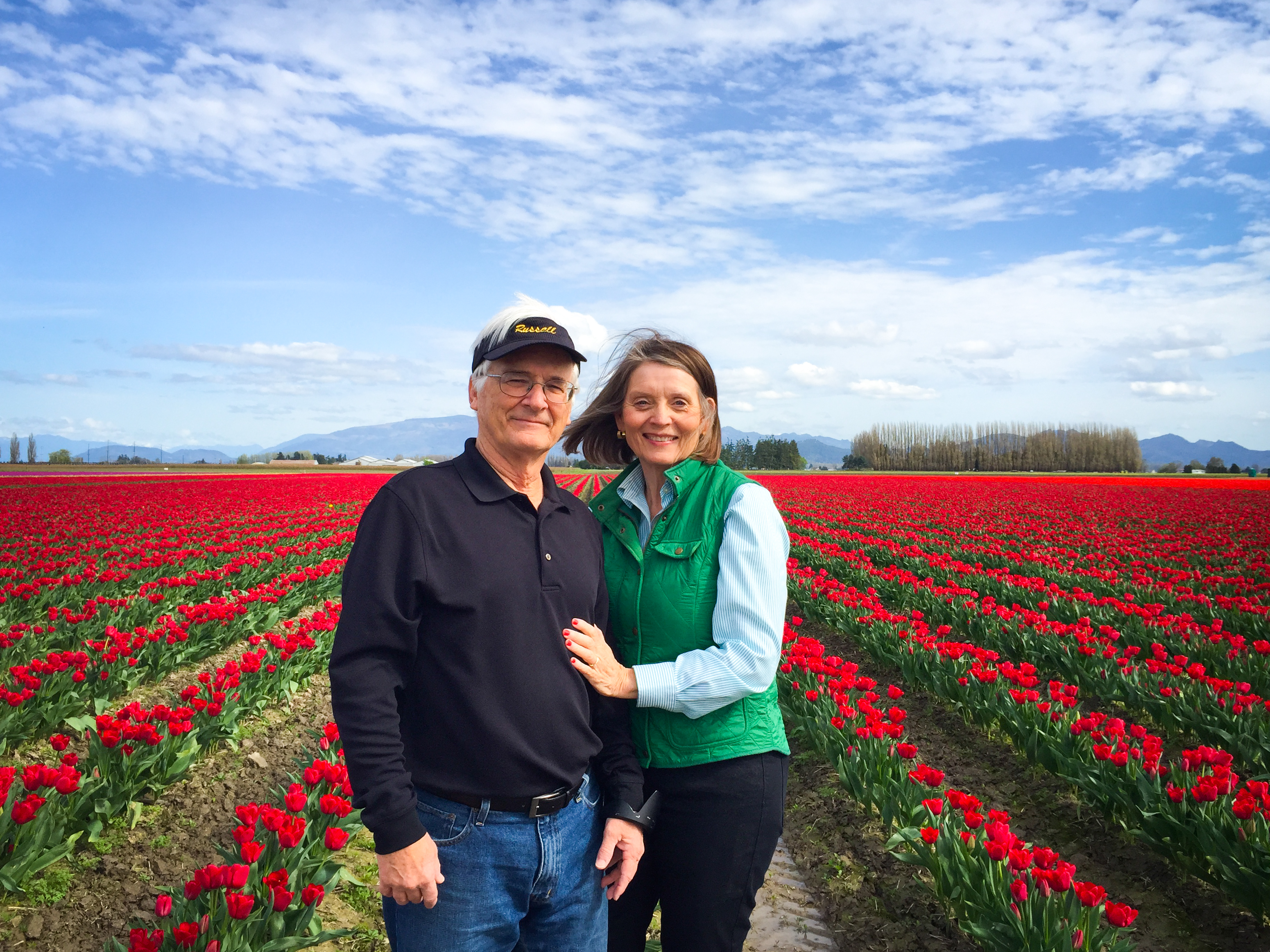 Mom and Dad enjoying the fields