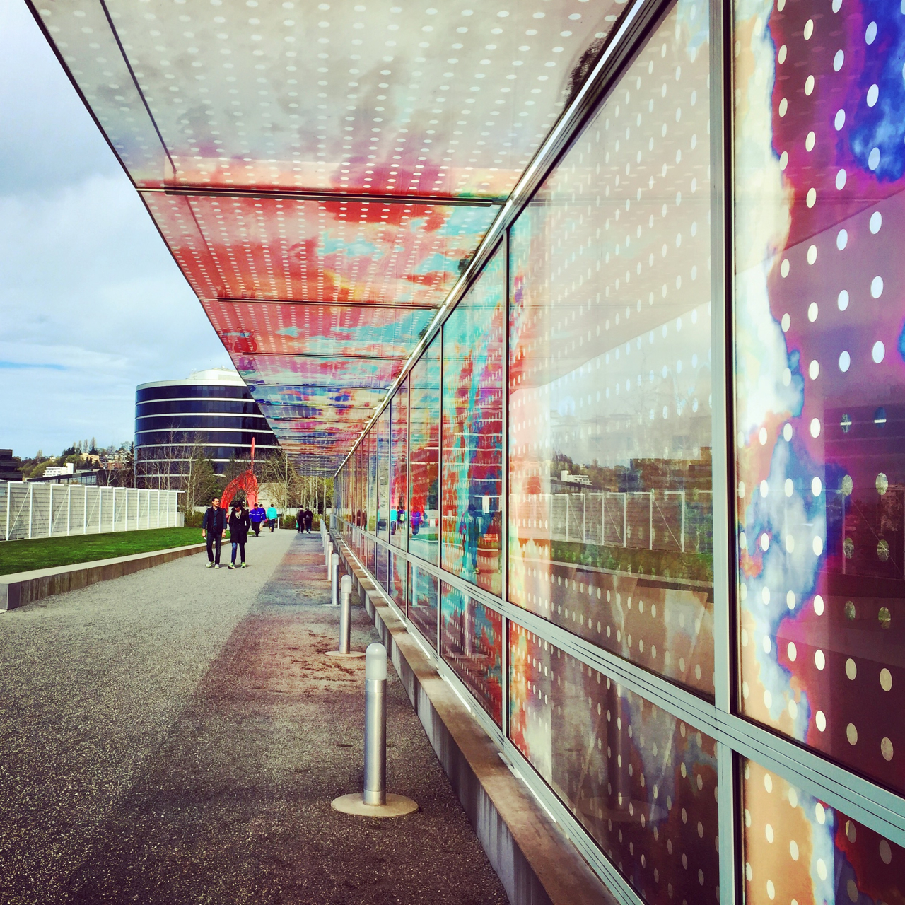 Colorful overpass at the Olympics Sculpture Park