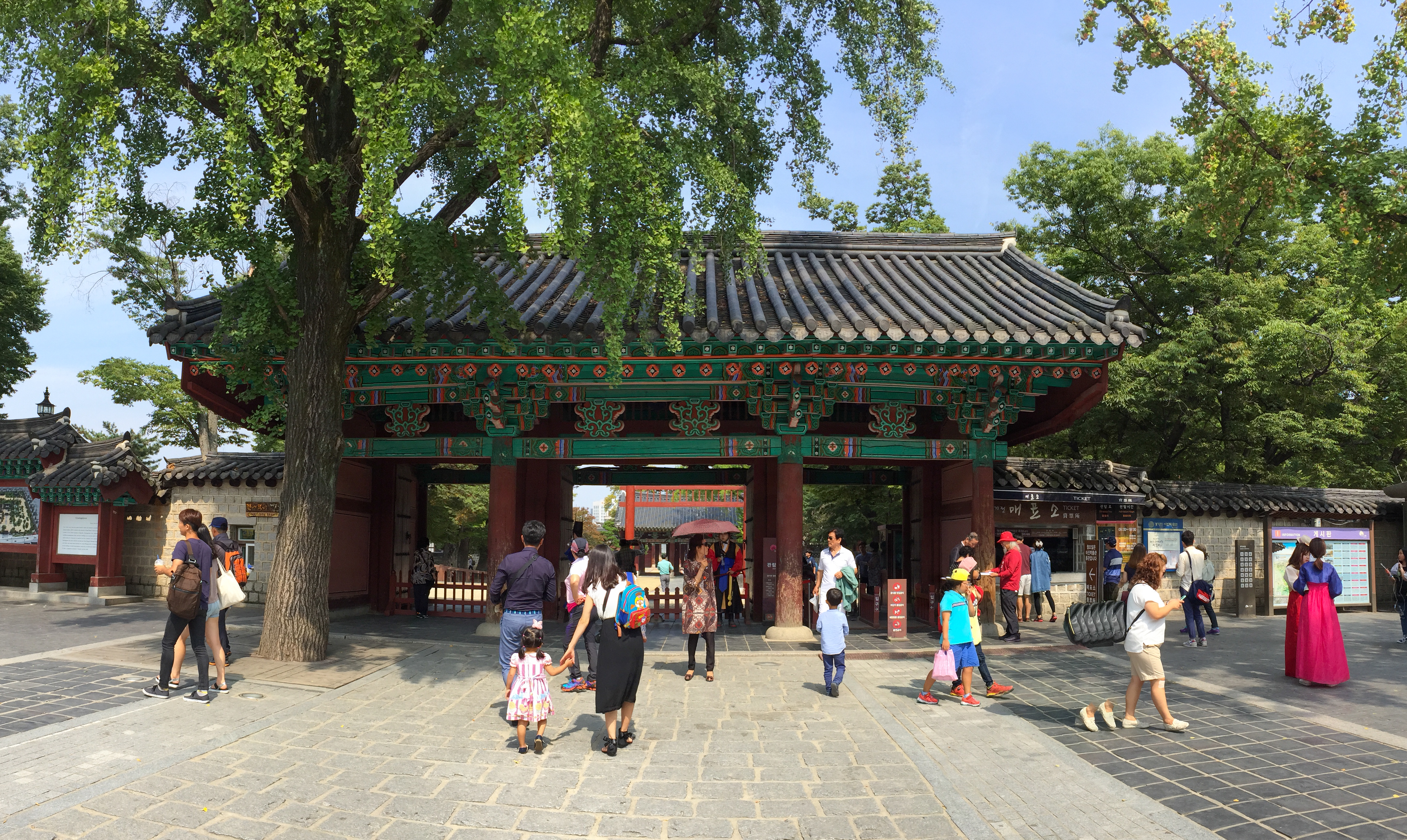 The gate in Hanok Village
