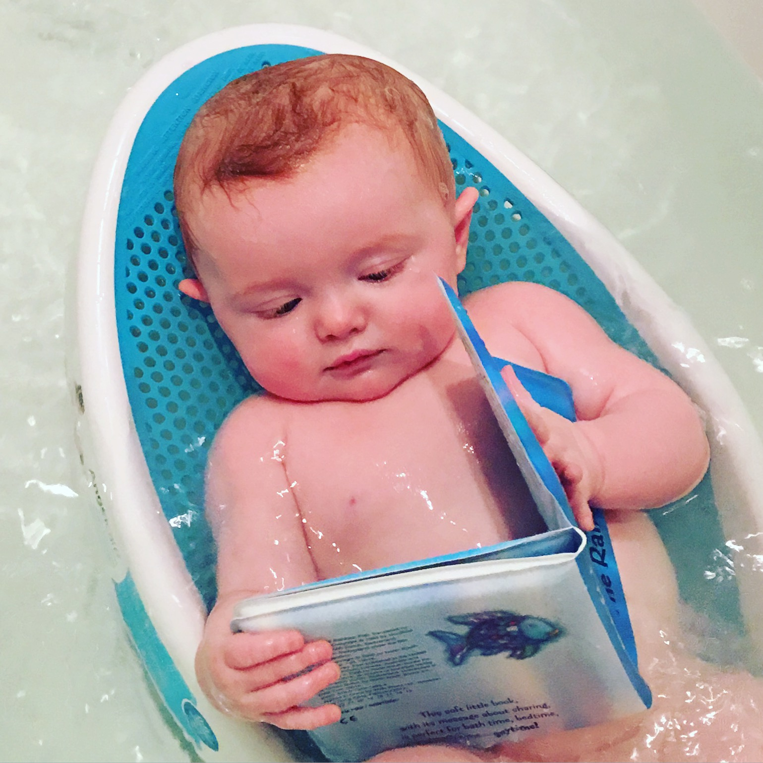 And she reads like her mama in the bath