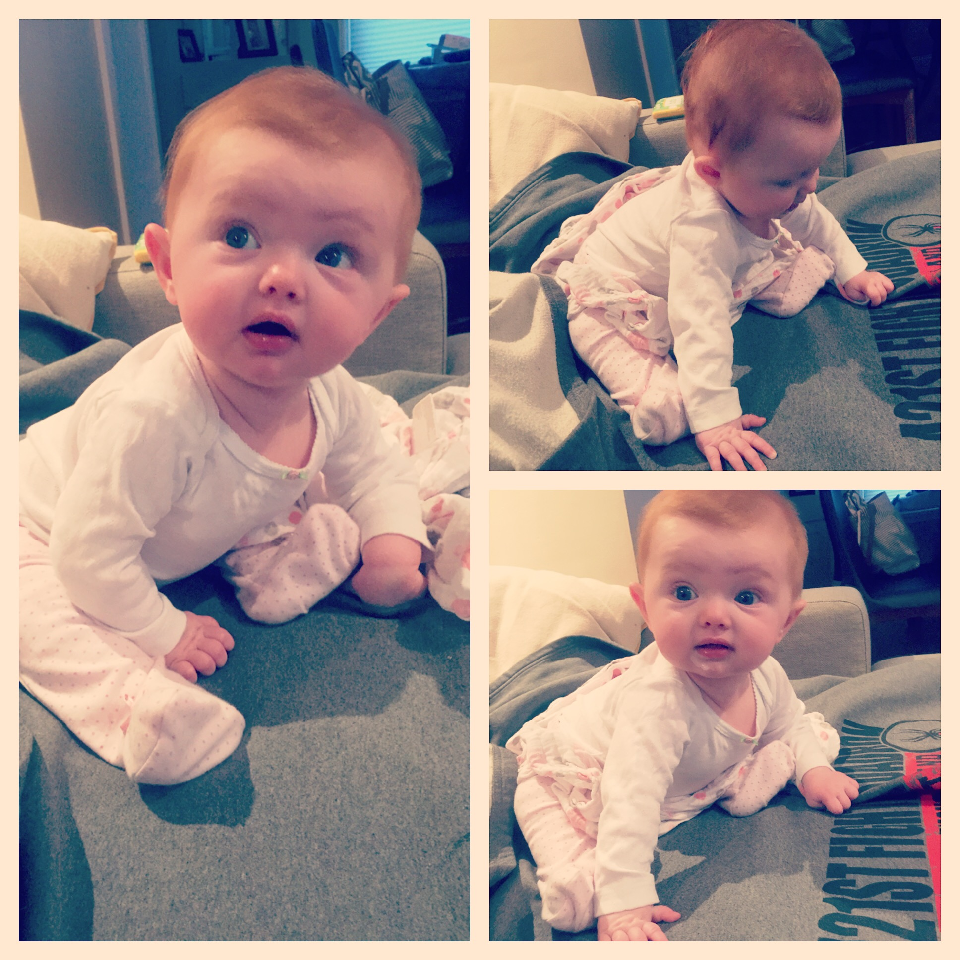 Big girl sitting up on her own